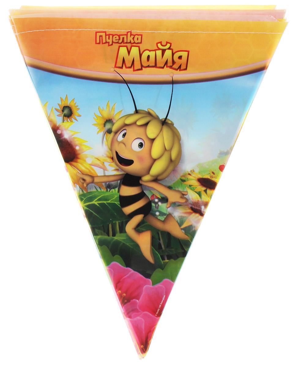 Веселая затея Гирлянда-вымпел Пчелка Майя веселая затея гирлянда вымпел губка боб