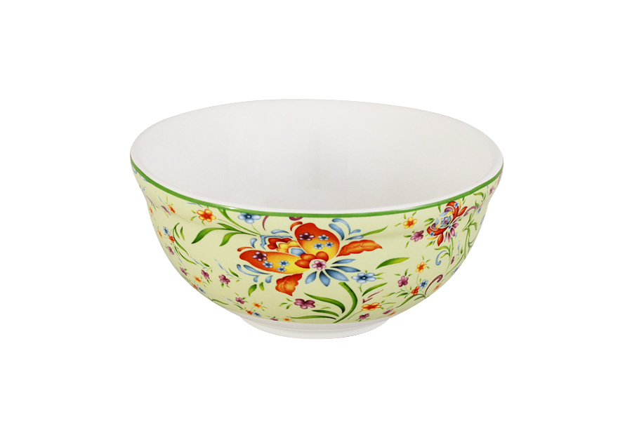 Салатник Imari Аквитания, диаметр 13 смIMD0018-DA2099GRALКруглый салатник Imari Аквитания, изготовленный из высококачественной глазурованной керамики, оформлен яркими цветочными изображениями.Такой салатник прекрасно подойдет для подачи салатов, закусок и других блюд. Он изысканно украсит сервировку как обеденного, так и праздничного стола.Диаметр салатника (по верхнему краю): 13 см.