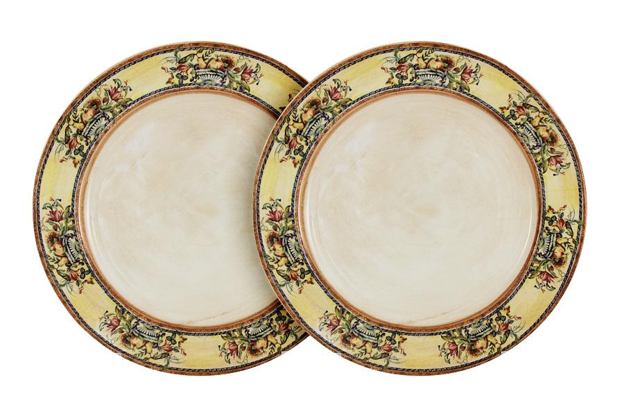 Набор десертных тарелок LCS Старая Тоскана, диаметр 20,5 см, 2 штLCS353PF-OT-ALНабор LCS Старая Тоскана состоит из двух десертных тарелок, декорированных цветочным изображением. Такие тарелки прекрасно оформят стол и порадуют вас лаконичным и ярким дизайном.