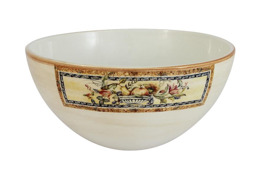 Салатник LCS Старая Тоскана, диаметр 20 смLCS938-OT-ALСалатник LCS Старая Тоскана, изготовленный из высококачественной керамики, прекрасно впишется в интерьер любой кухни и станет достойным дополнением к кухонному инвентарю. Изделие, оформленное красивым изображением фруктов и цветов, имеет изысканный внешний вид. Такой салатник не только украсит ваш кухонный стол и подчеркнет прекрасный вкус хозяйки, но и станет отличным подарком для ваших родных и близких.Диаметр салатника (по верхнему краю): 20 см.