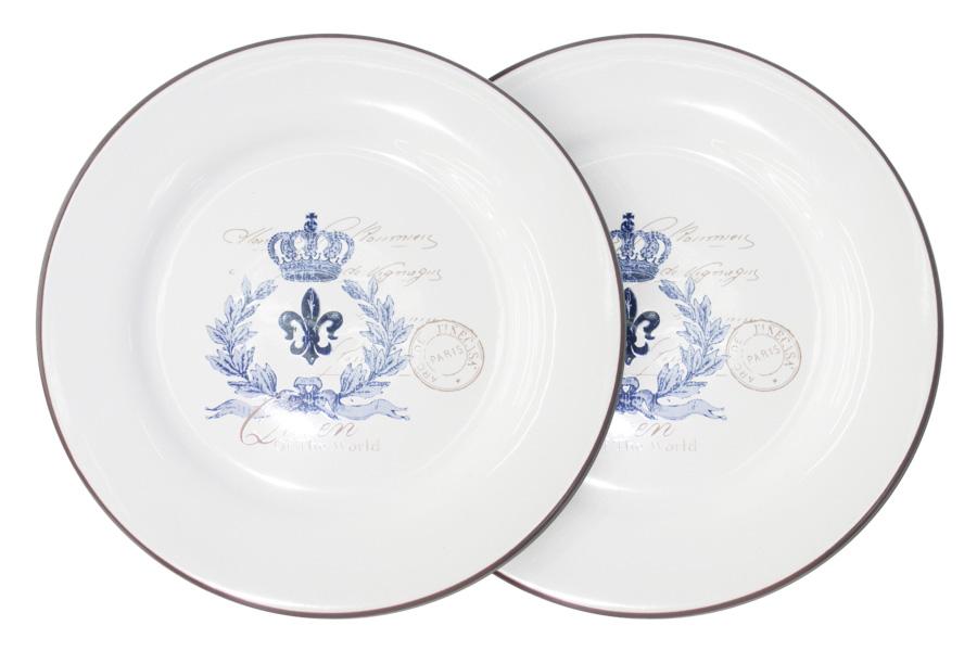 Набор обеденных тарелок LF Ceramic Королевский, диаметр 25 см, 2 штLF-120E2257-1-ALНабор LF Ceramic Королевский состоит из двух обеденных тарелок, изготовленных из высококачественной керамики. Яркий дизайн изделий, несомненно, придется вам по вкусу.Набор LF Ceramic Королевский украсит ваш кухонный стол, а также станет замечательным подарком к любому празднику.Диаметр (по верхнему краю): 25 см.