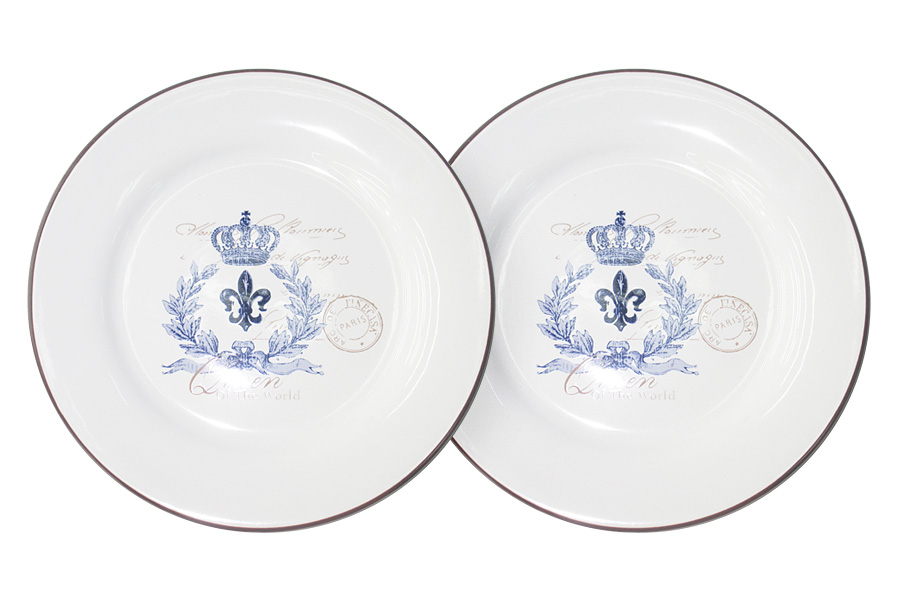 Набор десертных тарелок LF Ceramic Королевский, диаметр 20 см, 2 шт набор из 2 х десертных тарелок lf ceramic эдем al 55e2258 o lf