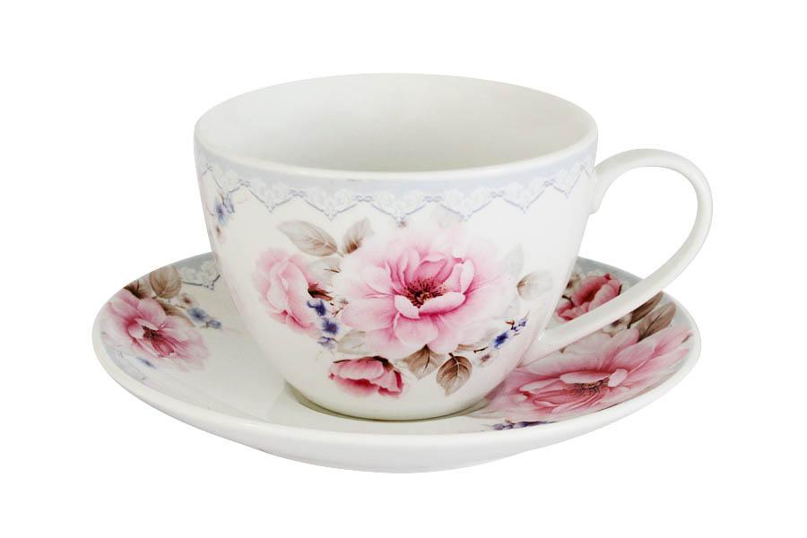Чайная пара Primavera Розовый блюз, 2 предметаPW-ZL01-112-ALЧайная пара Primavera Розовый блюз состоит из чашки и блюдца, изготовленных из костяного фарфора высшего качества, отличающегося необыкновенной прочностью и небольшим весом. Яркий дизайн, несомненно, придется вам по вкусу.Чайная пара Primavera Розовый блюз украсит ваш кухонный стол, а также станет замечательным подарком к любому празднику. Объем чашки: 200 мл.