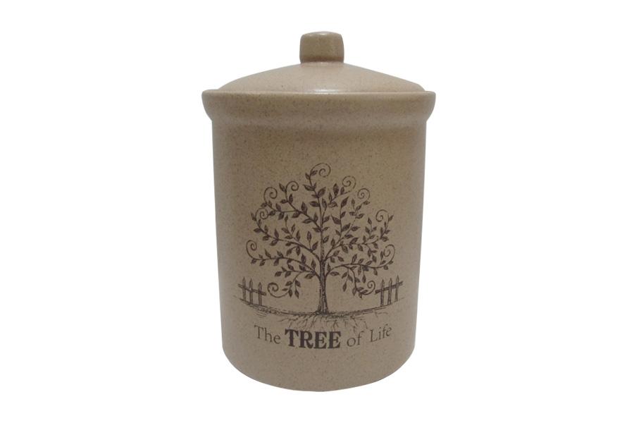 Банка для сыпучих продуктов Terracotta Дерево жизни, высота 18 смTLY301-2-TL-ALБанка для сыпучих продуктов Terracotta Дерево жизни изготовлена из высококачественной керамики без содержания химических примесей. Изделие декорировано изображением дерева и дополнено надписью: The Tree of Life. Банка идеальна для хранения чая, кофе, специй, орехов, сухофруктов и других сыпучих продуктов. В ней продукты сохранят свой вкус и аромат, а также будут защищены от солнца, влаги и насекомых.Упаковка выполнена в фирменном стиле, что делает продукцию не только полезным, но и красивым подарком.Допускается мытье в посудомоечной машине при соблюдении инструкции изготовителя посудомоечной машины.Высота банки: 18 см.