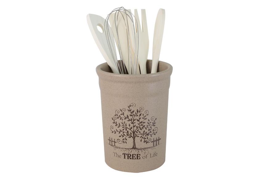 Подставка под кухонные инструменты Дерево жизни. TLY302-2-TL-AL чашка с блюдцем terracotta дерево жизни tly314s2 tl al