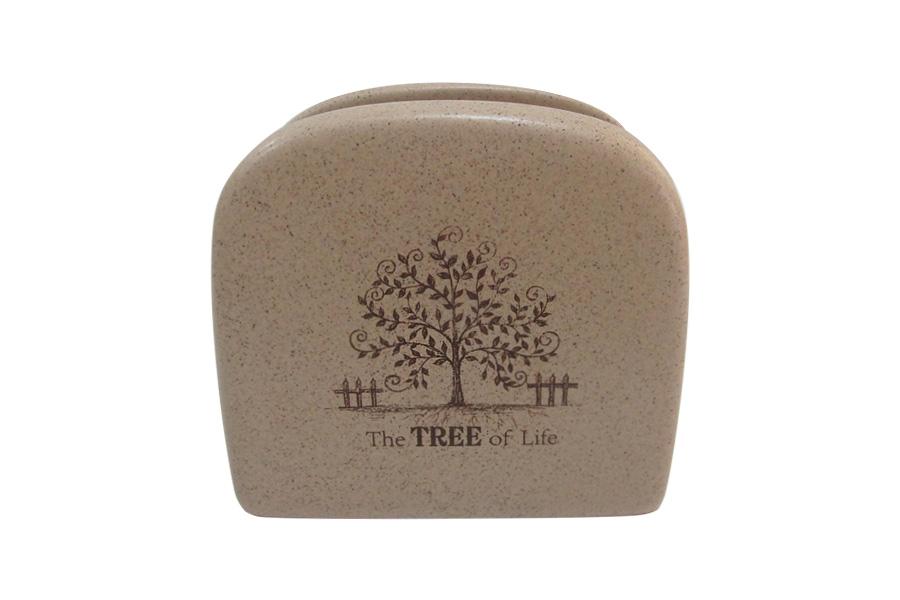 """Салфетница Terracotta """"Дерево жизни"""" выполнена из экологически чистой керамики, отличительной особенностью которой является прочность. Нанесение глазури, не содержащей свинца, придает посуде превосходный блеск и особую прочность. Изделие украшено изображением дерева. Такая салфетница отлично дополнит сервировку стола."""
