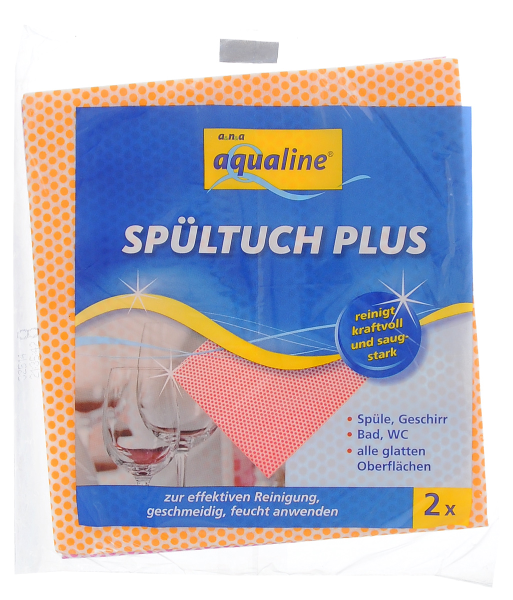 Салфетка Aqualine Plus для посуды и домашнего хозяйства, цвет: оранжевый, малиновый, 35 х 38 см, 2 шт2058_оранжевый, малиновыйМягкая салфетка Aqualine Plus обладает высокими чистящими свойствами за счет специальных точек, которые находятся на поверхности ткани. Она прекрасно подходит как для мытья посуды, так и для уборки поверхностей на кухне и в ванной комнате. Благодаря рифленой структуре салфетка удаляет даже самые сильные загрязнения, хорошо впитывая жидкость, не оставляя ворсинок.Состав: 82% вискоза, 18% полипропилен.