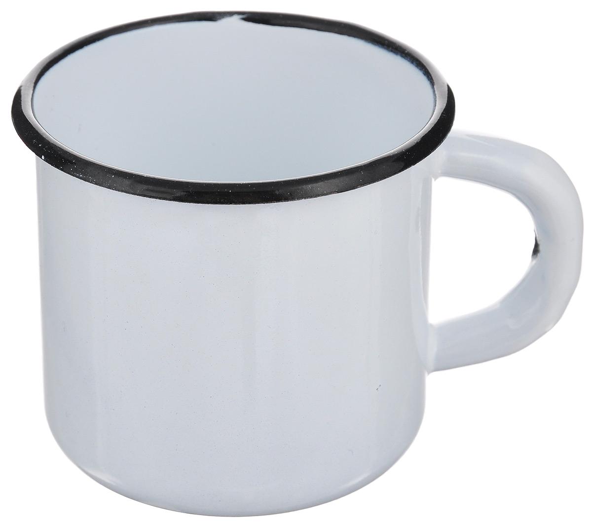 """Кружка """"СтальЭмаль"""" изготовлена из  высококачественной стали с эмалированным  покрытием. Она оснащена  удобной ручкой. Такая кружка не требует особого  ухода и ее легко мыть. Благодаря  классическому дизайну и  удобству в использовании кружка займет  достойное место на вашей кухне. Диаметр кружки (по верхнему краю): 7 см.  Высота стенки: 7 см."""