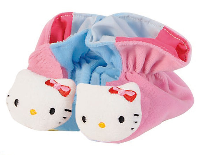 Hello Kitty Игрушка-погремушка Тапочки цвет розовый голубой обувь и пинетки simba тапочки погремушки hello kitty