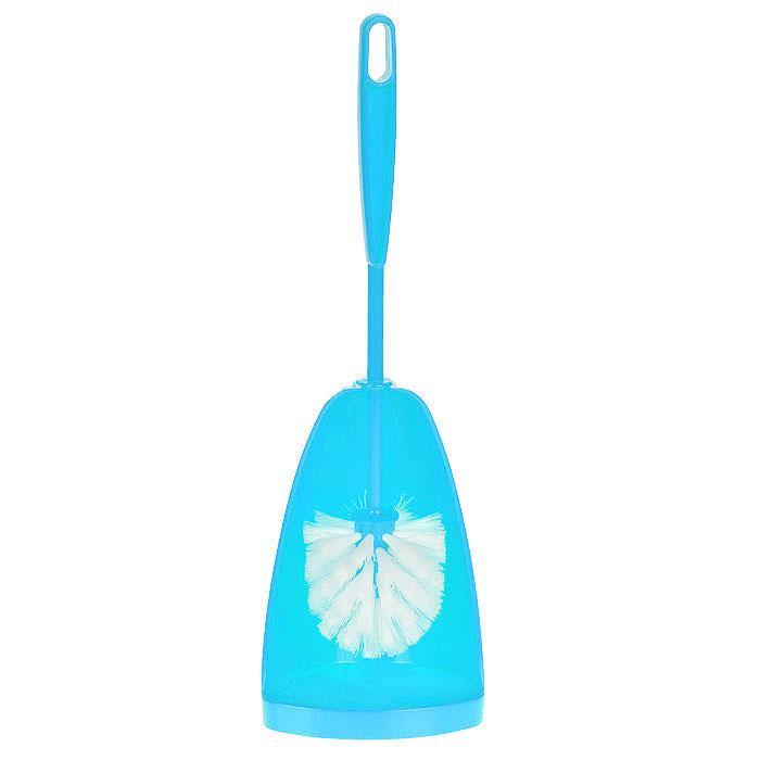 Ершик для туалета Centi Соло, с подставкой, цвет: голубой, 2 предмета6406_голубойЕршик для туалета Centi Соло выполнен из высококачественного сложного полимера. Он хранится в специальной подставке, которая обеспечивает гигиеничность использования и облегчает уход. Ершик отлично чистит поверхность, а грязь с него легко смывается водой.Общая высота (с учетом подставки): 40 см.Длина ершика: 36 см.Размер рабочей части ершика: 8 х 8 х 8 см.Размер подставки для ершика: 12 х 11 х 20 см.
