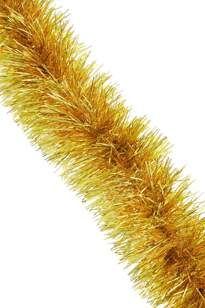 Мишура новогодняя Sima-land, цвет: золотистый, оранжевый, диаметр 9 см, длина 165 см. 623233623233_золотистый,оранжевыйМишура новогодняя Sima-land, выполненная из фольги, поможет вам украсить свой дом к предстоящим праздникам. Мишура армирована, то есть имеет проволоку внутри и способна сохранять приданную ей форму. Новогодняя елка с таким украшением станет еще наряднее. Новогодней мишурой можно украсить все, что угодно - елку, квартиру, дачу, офис - как внутри, так и снаружи. Можно сложить новогодние поздравления, буквы и цифры, мишурой можно украсить и дополнить гирлянды, можно выделить дверные колонны, оплести дверные проемы.