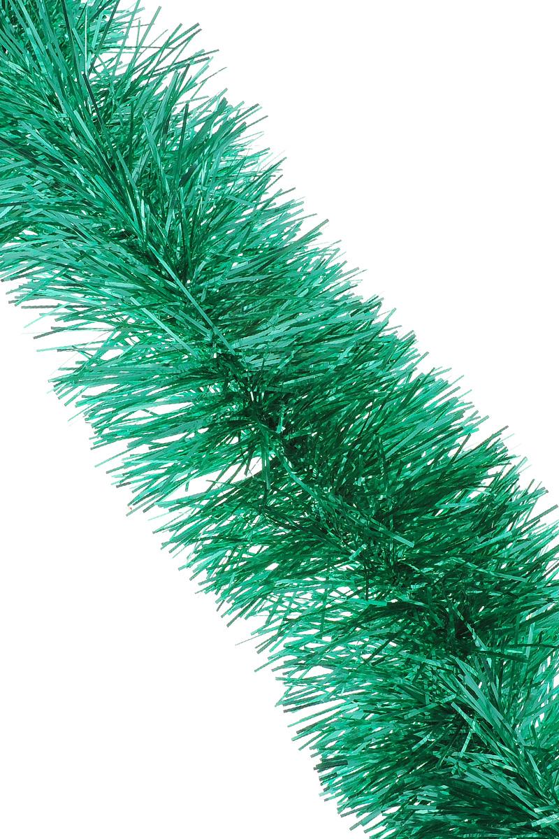 Мишура новогодняя Sima-land, цвет: зеленый, диаметр 10 см, длина 160 см. 623233702600_зеленый, серебристыйМишура новогодняя Sima-land, выполненная из фольги, поможет вам украситьсвой дом к предстоящим праздникам. Мишура армирована, то есть имеетпроволоку внутри и способна сохранять приданную ейформу. Новогодняя елка с таким украшением станет еще наряднее.Новогодней мишурой можно украсить все, что угодно - елку, квартиру, дачу, офис -как внутри, так и снаружи. Можно сложить новогодние поздравления, буквы ицифры, мишурой можно украсить и дополнить гирлянды, можно выделитьдверные колонны, оплести дверные проемы.