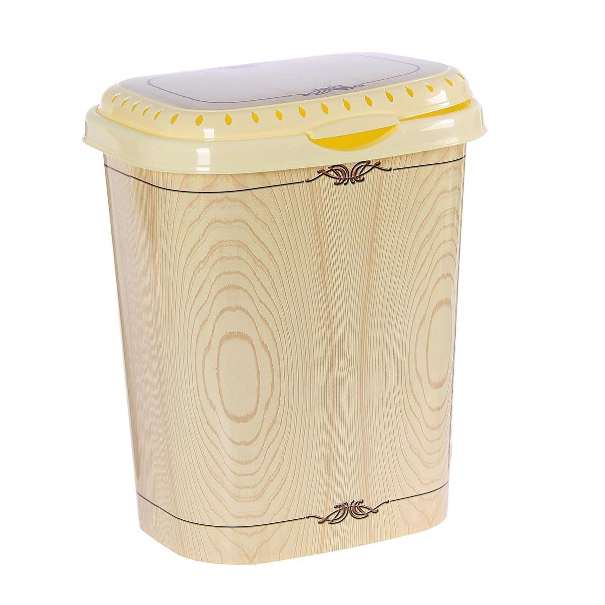 Корзина для белья Violet Беленый дуб, 40 л1940/91Корзина для белья Violet Беленый дуб изготовлена из высокопрочного износостойкого пластика, с внешней стороны оформленного декором под дерево. Предназначена для хранения грязного белья перед стиркой. Изделие снабжено удобной крышкой. Перфорация на крышке способствует естественной вентиляции белья. Благодаря лаконичному дизайну, такая корзина впишется в интерьер любой ванной комнаты.