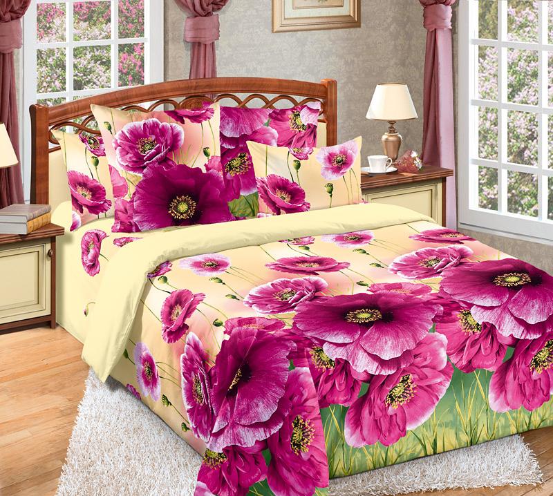 Комплект белья Текс-Дизайн Кармен 2, 2-спальный, наволочки 70х70, цвет: светло-желтый, фуксия, зеленый2200ПВеликолепное постельное белье Текс-Дизайн Кармен 2 выполнено из высококачественного перкаля (100% хлопок) и украшено реалистичным цветочным рисунком. Комплект состоит из пододеяльника, простыни и двух наволочек. Перкаль - это тонкая и легкая хлопчатобумажная ткань высокой плотности полотняного переплетения, сотканная из пряжи высоких номеров. При изготовлении перкаля используются длинноволокнистые сорта хлопка, что обеспечивает высокие потребительские свойства материала. Несмотря на свою утонченность, перкаль очень практичен - это одна из самых износостойких тканей для постельного белья.