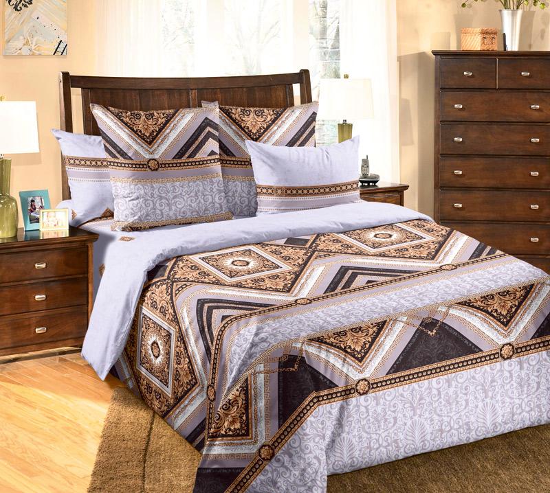 Комплект белья Текс-Дизайн Стиль 2, 2-спальный, цвет: сиреневый, коричневый, светло-бежевый. 2250П2250ПВеликолепное постельное белье Текс-Дизайн Стиль 2 выполнено из высококачественного перкаля (100% хлопок) и оформлено оригинальным рисунком. Комплект состоит из пододеяльника, простыни и двух наволочек. Перкаль - это тонкая и легкая хлопчатобумажная ткань высокой плотности полотняного переплетения, сотканная из пряжи высоких номеров. При изготовлении перкаля используются длинноволокнистые сорта хлопка, что обеспечивает высокие потребительские свойства материала. Несмотря на свою утонченность, перкаль очень практичен - это одна из самых износостойких тканей для постельного белья.