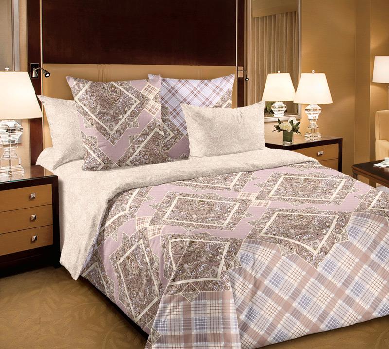 """Великолепное постельное белье Текс-Дизайн   """"Итальянка"""" выполнено из высококачественного перкаля (100% хлопок) и оформлено оригинальным   рисунком. Комплект состоит из пододеяльника,   простыни и двух наволочек. Перкаль - это тонкая и легкая хлопчатобумажная ткань   высокой плотности полотняного переплетения, сотканная   из пряжи высоких номеров. При изготовлении перкаля   используются длинноволокнистые сорта хлопка, что   обеспечивает высокие потребительские свойства   материала. Несмотря на свою утонченность, перкаль   очень практичен - это одна из самых износостойких   тканей для постельного белья.    Советы по выбору постельного белья от блогера Ирины Соковых. Статья OZON Гид"""