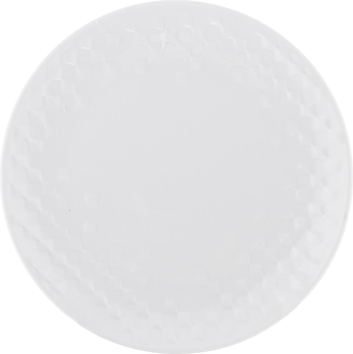 Тарелка десертная Walmer Sapphire, цвет: белый, диаметр 20,5 см горшок для запекания walmer classic цвет белый диаметр 12 см