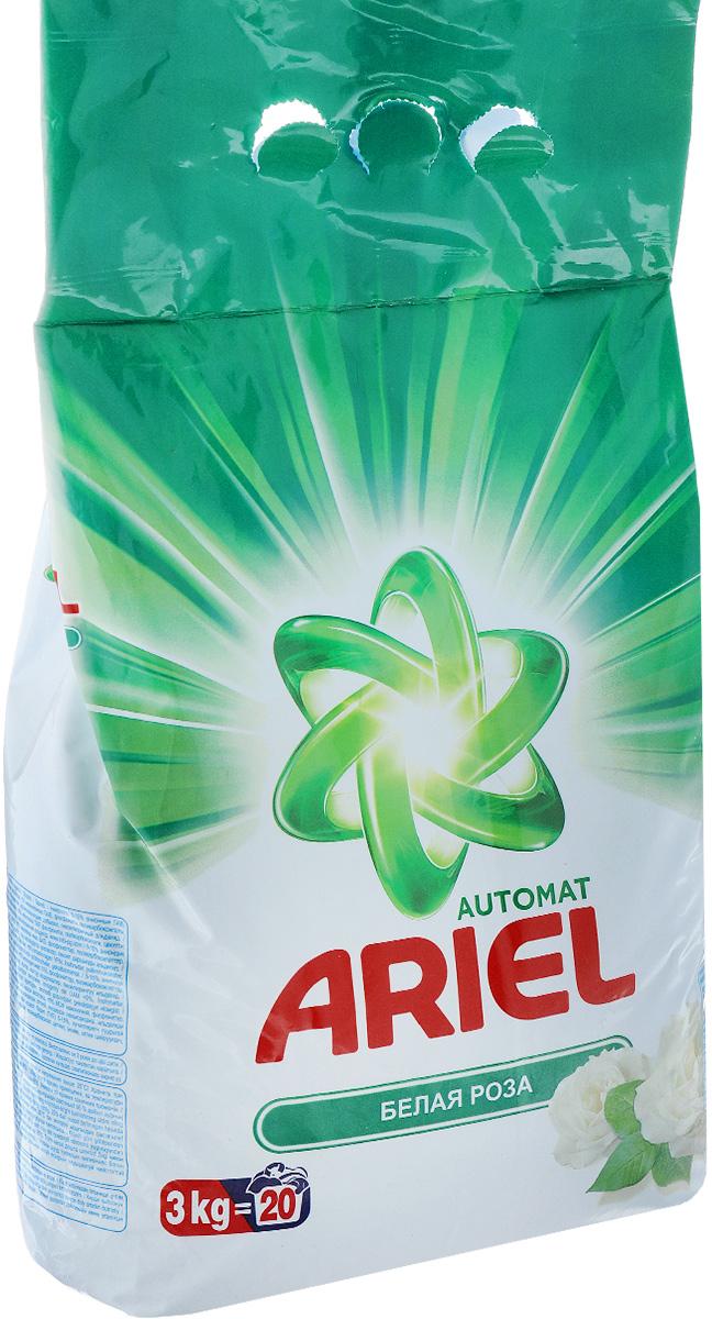 Стиральный порошок Ariel, автомат, белая роза, 3 кгAS-81489276Стиральный порошок Ariel предназначен для стиркив стиральных машинах любого типа. Он эффективно отстирывает различные пятна.В состав порошка входят специальные полимеры, которые отбеливают и сохраняют белизну вещей надолго.Стиральный порошок отлично отстирывает даже в холодной воде. Потому что содержит специальные энзимы, которые начинают работать уже при низких температурах. Порошок содержит компоненты, помогающие защитить стиральную машину от накипи и известкового налета. Состав: 5-15% анионные ПАВ, отбеливающие вещества на основе кислорода, <5% неионогенные ПАВ, фосфонаты, поликарбоксилаты, цеолиты, энзимы, оптические отбеливатели, ароматизирующие добавки, гексилкоричный альдегид.