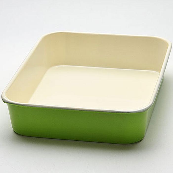 Противень Mayer & Boch, с керамическим покрытием, прямоугольный, цвет: салатовый, 34 см х 26 см х 6,5 см22254_салатовыйПротивень Mayer & Boch выполнен из высококачественной углеродистой стали и снабжен антипригарным керамическим покрытием, что обеспечивает ему прочность и долговечность. Противень равномерно и быстро прогревается, что способствует лучшему пропеканию пищи. Его легко чистить. Готовая выпечка без труда извлекается. Противень подходит для использования в духовке с максимальной температурой 250°С. Перед каждым использованием противень необходимо смазать небольшим количеством масла. Простой в уходе и долговечный в использовании противень Mayer & Boch станет верным помощником в создании ваших кулинарных шедевров. Не рекомендуется мыть в посудомоечной машине.Размер противня: 34 см х 26 см х 6,5 см. Толщина стенки противня: 0,6 мм.
