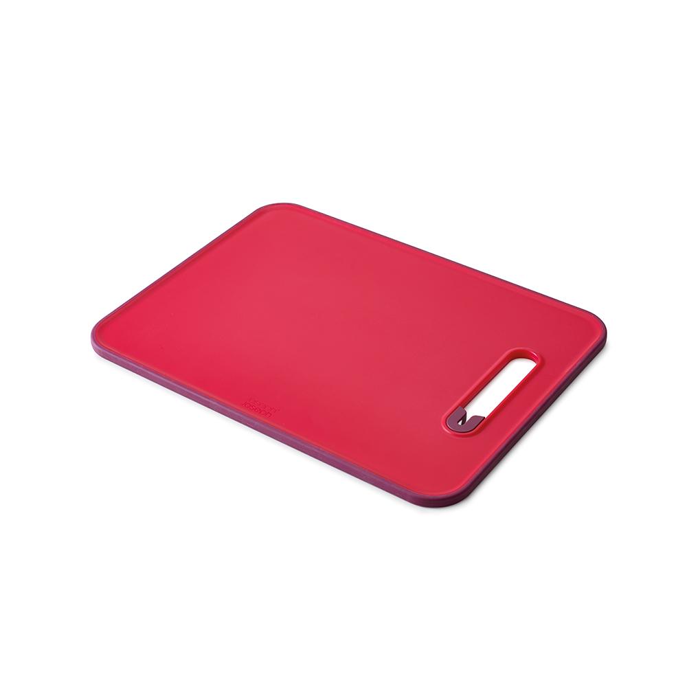 Доска разделочная Joseph Joseph Slice & Sharpen, с ножеточкой, цвет: красный,  37 х 28 х 1 см. 60107 joseph joseph разделочная с ножеточкой slice
