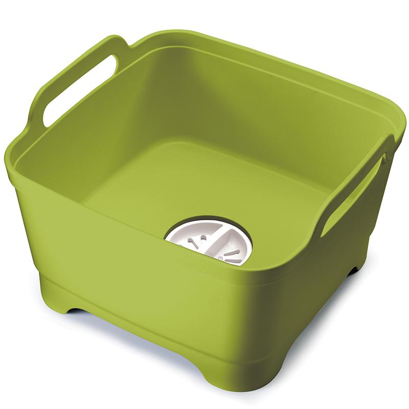 Контейнер для мытья посуды Joseph Joseph Wash&Drain, цвет: зеленый. 85059