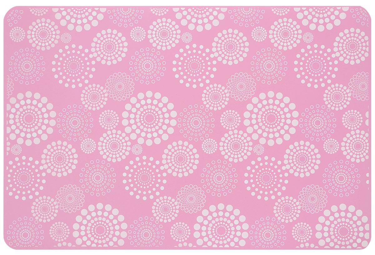 Коврик силиконовый Mayer & Boch, цвет: розовый, белый, 45 х 30 см21992_розовый, белыйСиликоновый коврик Mayer & Boch предназначен для приготовления выпечки. Он быстро нагревается, равномерно пропекает, не допускает подгорания выпечки с краев или снизу. Нет необходимости смазывать коврик маслом. Вынимать продукты из изделия очень легко. Слегка оттяните коврик в сторону, и ваша выпечка легко выскользнет из него. Изделие не ржавеет и на нем не образуются пятна. Нет необходимости изменять температуру приготовления.Силиконовый коврик можно безбоязненно помещать в морозильную камеру, холодильник, микроволновую печь, посудомоечную машину и духовой шкаф.