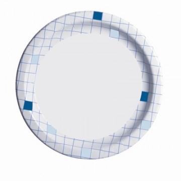 Набор одноразовых бумажных тарелок Huhtamaki, цвет: белый, синий, диаметр 23 см, 50 штПОС20970Набор Huhtamaki состоит из 50 круглых тарелок, выполненных из мелованной бумаги и предназначенных для одноразового использования. Изделия декорированы принтом в клетку по краям.Одноразовые тарелки будут незаменимы при поездках на природу, пикниках и других мероприятиях. Они не займут много места, легки и самое главное - после использования их не надо мыть.Диаметр тарелки: 23 см.Высота тарелки: 1,5 см.