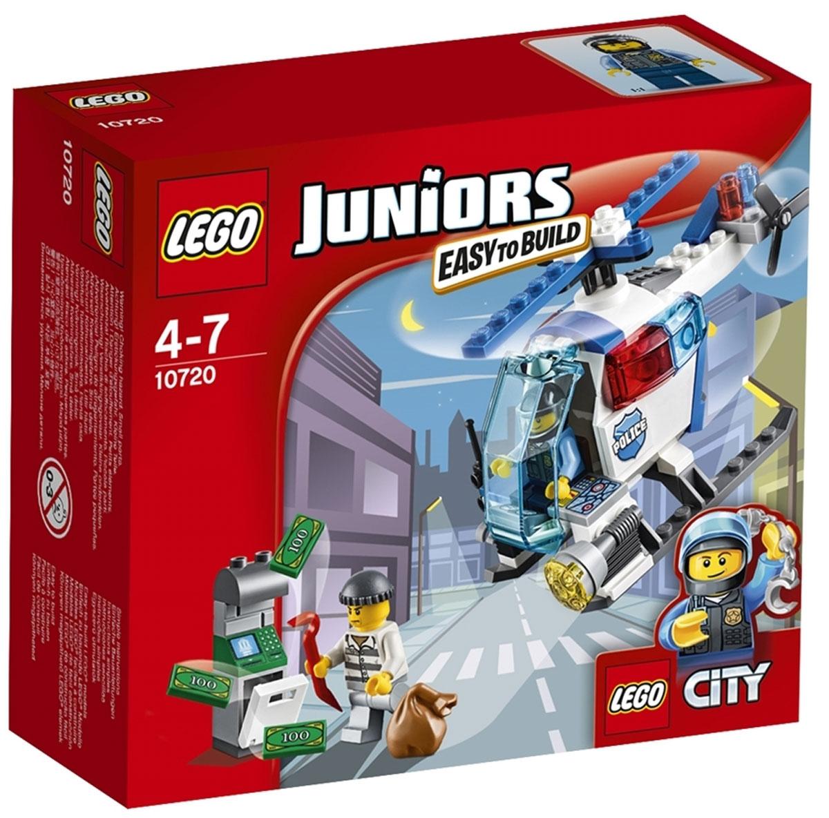 LEGO Juniors Конструктор Погоня на полицейском вертолете 10720 конструктор lego juniors погоня на полицейском вертолёте 10720