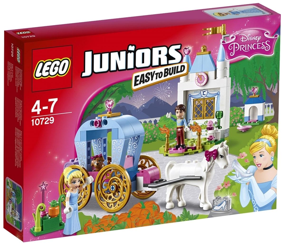 LEGO Juniors Конструктор Карета Золушки 10729 lego juniors конструктор финальная гонка флорида 500 10745