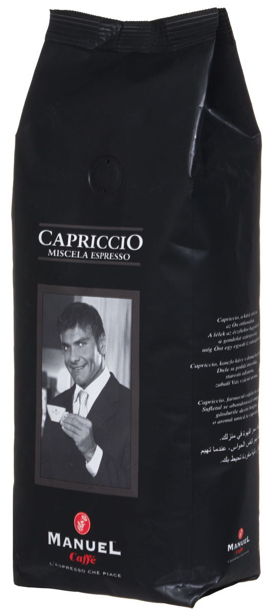 Manuel Capriccio кофе в зернах, 500 г8006536000189Manuel Capriccio - лучшая смесь для приготовления на профессиональном оборудовании. Кофе темной обжарки. Сбалансированный вкус с устойчивым послевкусием.Кофе: мифы и факты. Статья OZON Гид