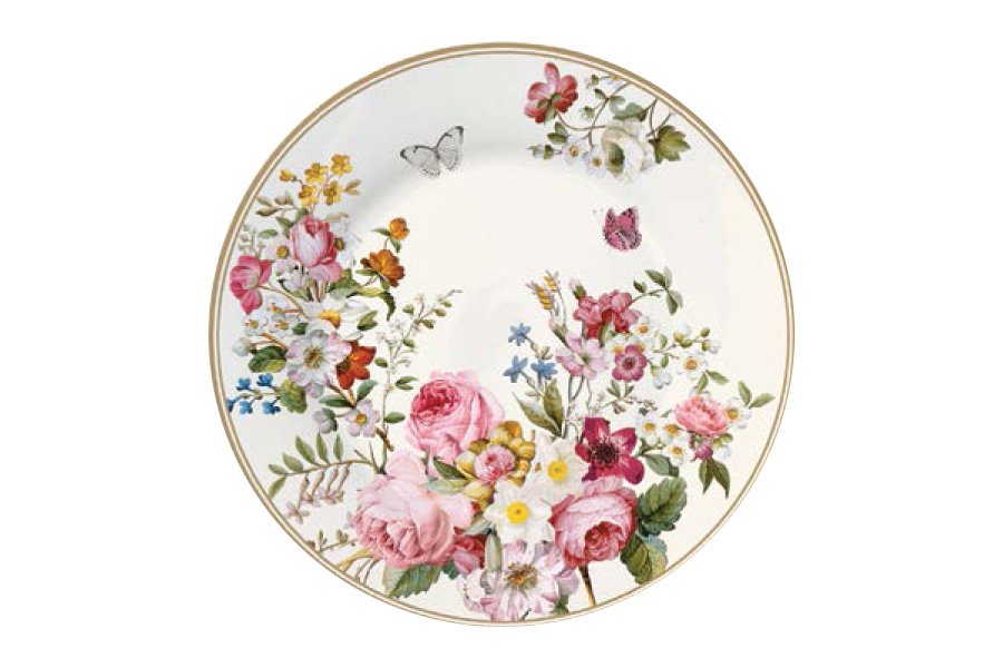 Тарелка десертная Nuova R2S Цветочный карнавал, диаметр 19 см тарелка десертная цветочный карнавал тёмная 1063511