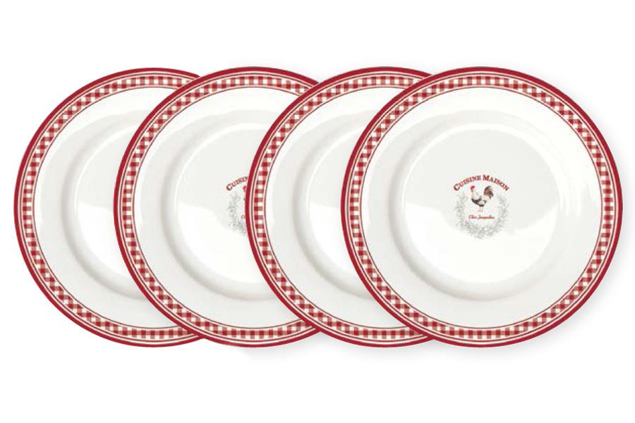 Набор из 4-х десертных тарелок Французская кухня. R2S924/CUSI-ALR2S924/CUSI-ALВся продукция производится из современных и экологически чистых материалов: фарфора, стекла, пластика и дерева.Продукция компании «NUOVA R2S» отличается современным дизайном, и легкостью в эксплуатации. Компания работает в тесном сотрудничестве с лучшими итальянскими художниками и дизайнерами.Важным преимуществом этой фабрики, является оригинальная подарочная упаковка. Продукция компании «NUOVA R2S» не только современный подарок и украшение для Вашего дома, но и всегда неисчерпаемое количество идей на Вашей кухне.