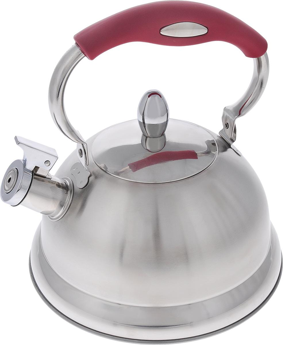 Чайник Mayer & Boch, со свистком, 3 л. 2142121421Чайник со свистком Mayer & Boch изготовлен из высококачественной нержавеющей стали, что обеспечивает долговечность использования. Капсульное дно обеспечивает равномерный и быстрый нагрев, поэтому вода закипает гораздо быстрее, чем в обычных чайниках. Носик чайника оснащен откидным свистком, звуковой сигнал которого подскажет, когда закипит вода. Чайник оснащен удобной ручкой с красной силиконовой накладкой. Чайник Mayer & Boch - качественное исполнение и стильное решение для вашей кухни. Подходит для всех типов плит, включая индукционные. Можно мыть в посудомоечной машине.Высота чайника (без учета ручки и крышки): 12,5 см.Высота чайника (с учетом ручки и крышки): 23 см.Диаметр чайника (по верхнему краю): 10 см.