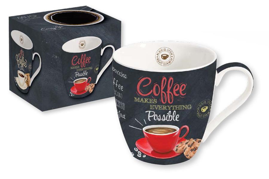 """Кружка """"Coffee"""" отличается современным дизайном и легкостью в эксплуатации.  Важным преимуществом кружки является оригинальная подарочная упаковка. Изделие послужит не только современным подарком, но и  украшением для дома. Кружка """"Coffee"""" выполнена из высококачественного фарфора."""