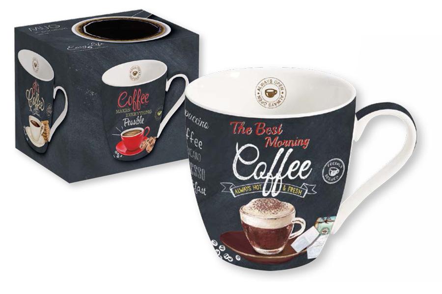"""Кружка """"Cappuccino"""" выполнена из фарфора. Изделие отличается современным дизайном и легкостью в эксплуатации.  Кружка """"Nuova R2S"""" не только современный подарок, но и украшение для дома."""