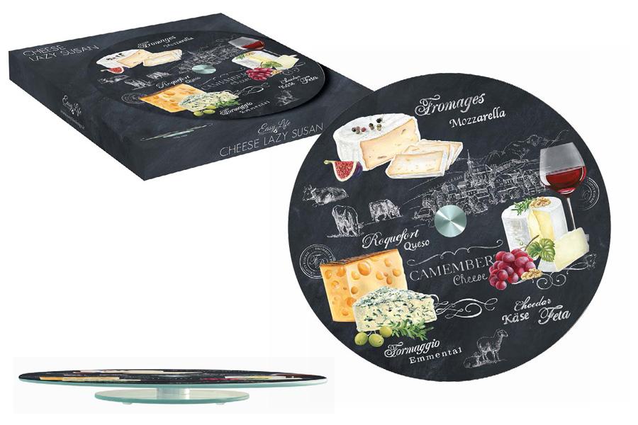 Блюдо Nuova R2S Мир сыров, вращающееся, диаметр 32 смR2S441/WOCH-ALВращающееся блюдо Nuova R2S Мир сыров, изготовленное из прочного стекла, оформлено красочными изображениями. Изысканное блюдо прекрасно подойдет для подачи сырной нарезки, холодных и горячих закусок, бутербродов и других блюд. Благодаря яркому дизайну и качеству исполнения блюдо Nuova R2S Мир сыров станет украшением праздничного стола и подчеркнет ваш безупречный вкус.Диаметр блюда: 32 см.