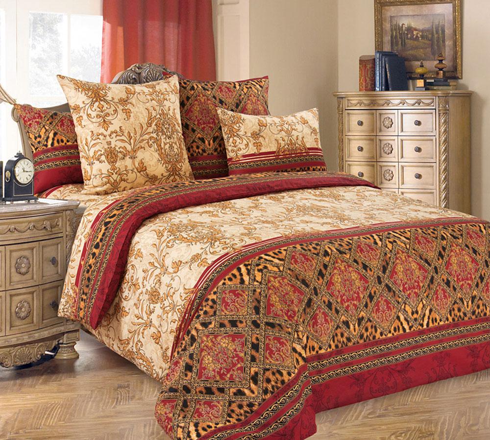 Комплект белья БеЛиссимо Императрица, 2-спальный, наволочки 70х70, цвет: бежевый, красный, коричневый2100БКомплект постельного белья БеЛиссимо Императрица является экологически безопасным для всей семьи, так как выполнен из натурального хлопка. Комплект состоит из пододеяльника, простыни и двух наволочек. Постельное белье оформлено оригинальными цветочными узорами и имеет изысканный внешний вид.Для производства постельного белья используются экологичные ткани высочайшего качества.Бязь - хлопчатобумажная плотная ткань полотняного переплетения. Отличается прочностью и стойкостью к многочисленным стиркам. Бязь считается одной из наиболее подходящих тканей, для производства постельного белья и пользуется в России большим спросом.Коллекция эксклюзивных дизайнов БеЛиссимо - это яркое настроение интерьера вашей спальни. Натуральная ткань (бязь, 100% хлопок) и отличный пошив комплектов - залог вашего комфортного здорового сна.