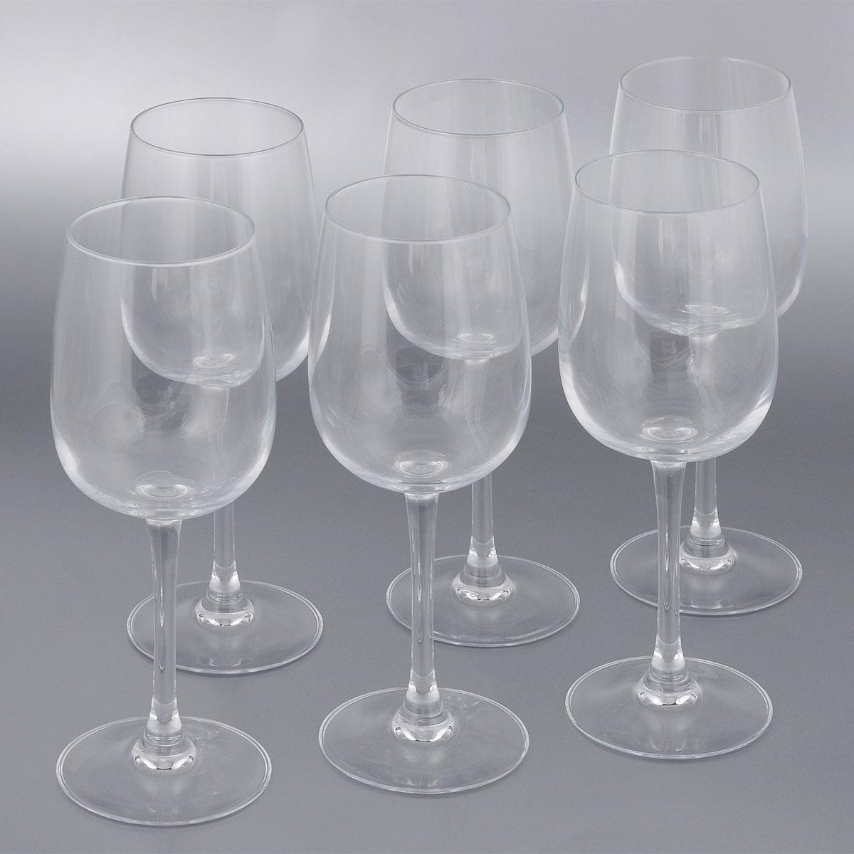 Набор фужеров для вина Luminarc Allegresse, 300 мл, 6 штJ8164Набор Luminarc Allegresse состоит из шести классических фужеров, выполненных из прочного стекла. Изделия оснащены высокими ножками и предназначены для подачи вина. Они сочетают в себе элегантный дизайн и функциональность. Благодаря такому набору пить напитки будет еще вкуснее.Набор фужеров Allegresse прекрасно оформит праздничный стол и создаст приятную атмосферу за романтическим ужином. Такой набор также станет хорошим подарком к любому случаю.Можно мыть в посудомоечной машине.Диаметр фужера (по верхнему краю): 6,1 см. Диаметр основания фужера: 8 см. Высота фужера: 20,6 см.