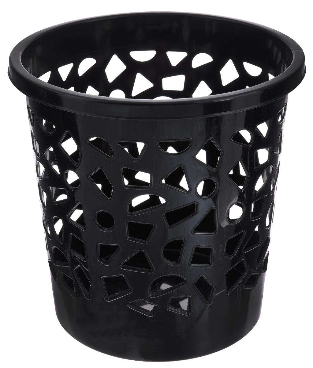 Корзина для мусора Бытпласт, цвет: черный, высота 26 смС12431_черныйКорзина для мусора Бытпласт, изготовлена из высококачественного пластика. Вы можете использовать ее для выбрасывания разных пищевых и не пищевых отходов. Корзина имеет отверстия на стенках и сплошное дно. Корзина для мусора поможет содержать ваше рабочее место в порядке.Диаметр (по верхнему краю): 26 см.Высота: 26 см.