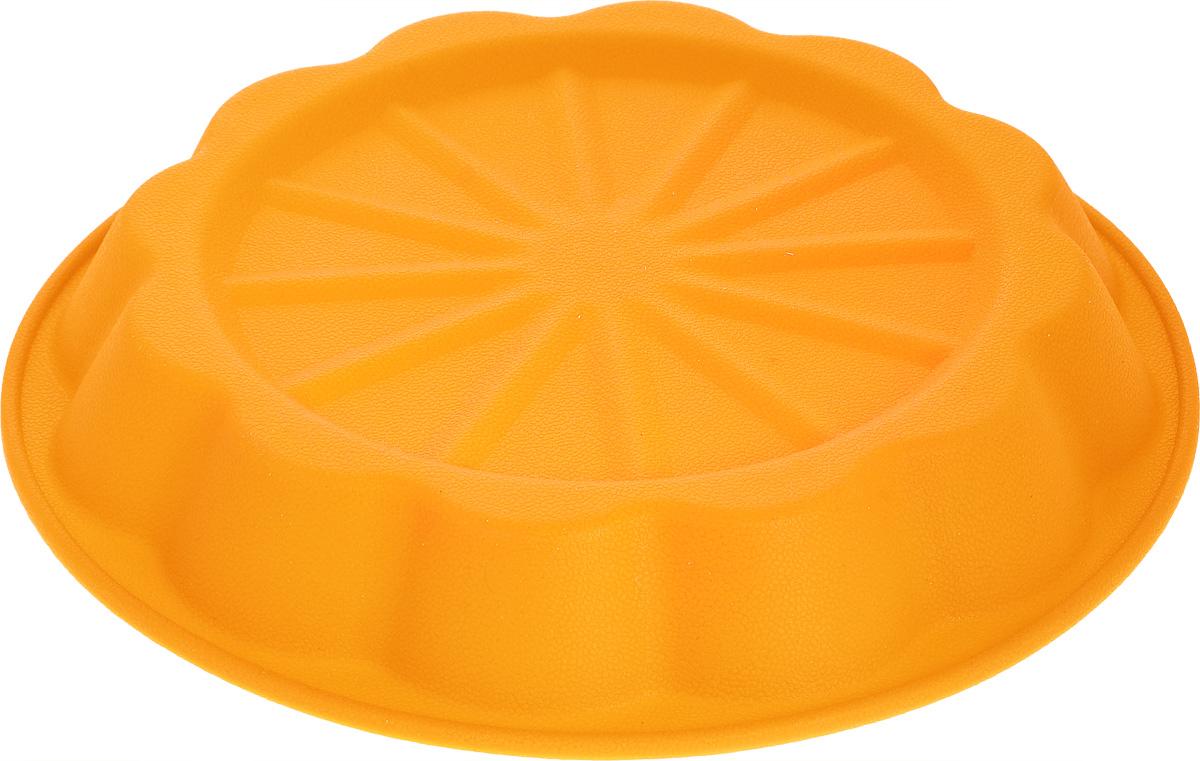 Форма для выпечки Marmiton Апельсин, цвет: оранжевый, диаметр 24,5 см16031_оранжевыйФорма Marmiton Апельсин выполнена из силикона, благодаря этому выпечку вынимать легко и просто. Материал устойчив к фруктовым кислотам, может быть использован в духовках и микроволновых печах.Такая форма идеальна для приготовления разнообразной выпечки, льда, конфет, желе, запеканок, шоколада, пудингов. Изделие выдерживает температуру от -40°С до +240°С. Можно мыть и сушить в посудомоечной машине.Диаметр (по верхнему краю): 24,5 см.Диаметр дна: 19 см.Высота стенки: 3,5 см.