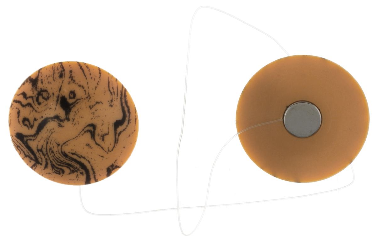 Клипсы магнитные для штор SmolTtx Абстракция, с леской, цвет: песочный, длина 33,5 см, 2 шт серьги клипсы fantacy