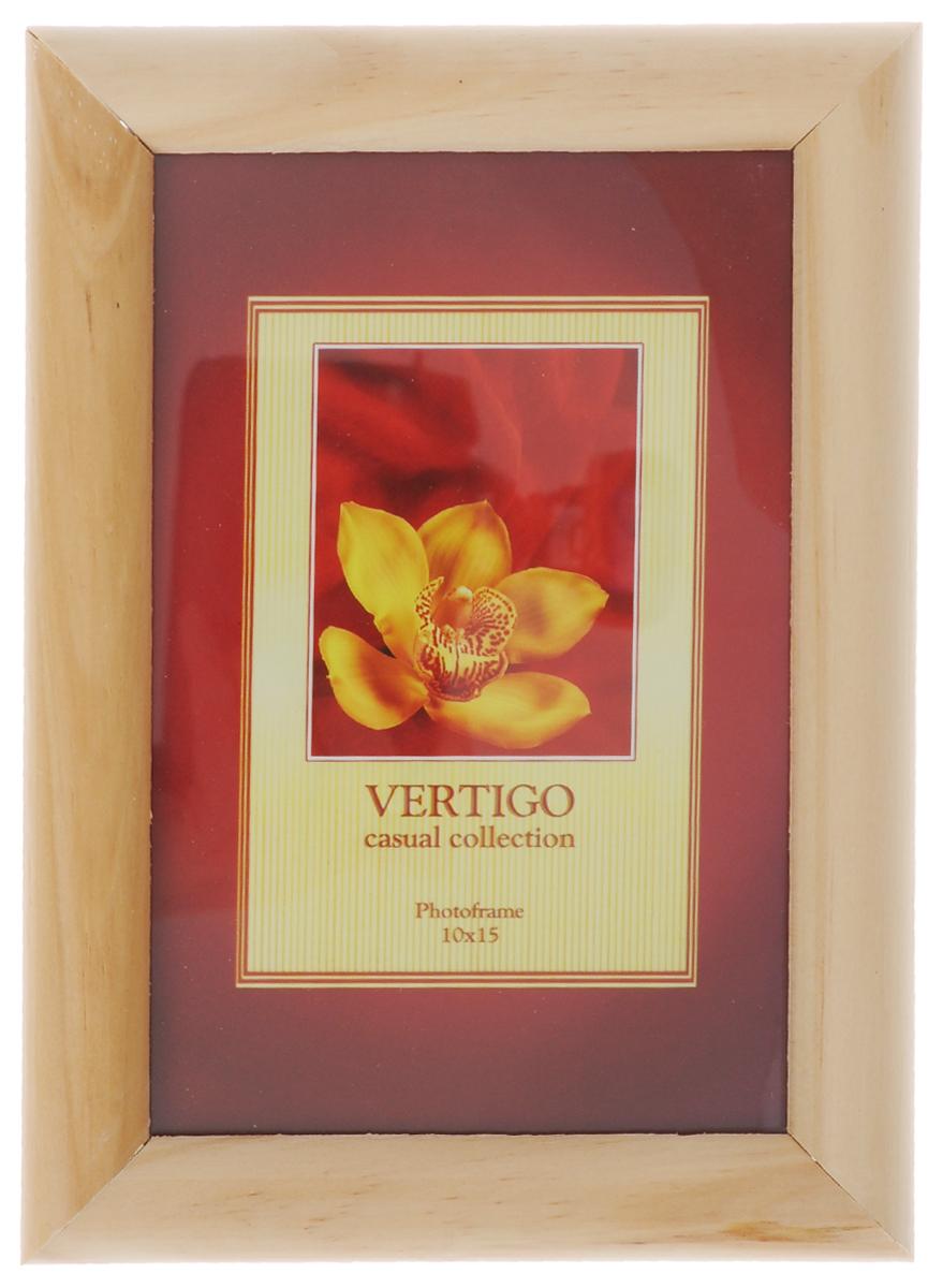 Фоторамка Vertigo Toscana, цвет: бежевый, 10 х 15 см12194 WF-022/194_бежевыйФоторамка Vertigo Toscana выполнена из дерева и стекла, защищающего фотографию. Обратная сторона рамки оснащена специальной ножкой, благодаря которой ее можно поставить на стол или любое другое место в доме или офисе. Также изделие оснащено специальными отверстиями для подвешивания на стену.Такая фоторамка поможет вам оригинально и стильно дополнить интерьер помещения, а также позволит сохранить память о дорогих вам людях и интересных событиях вашей жизни.