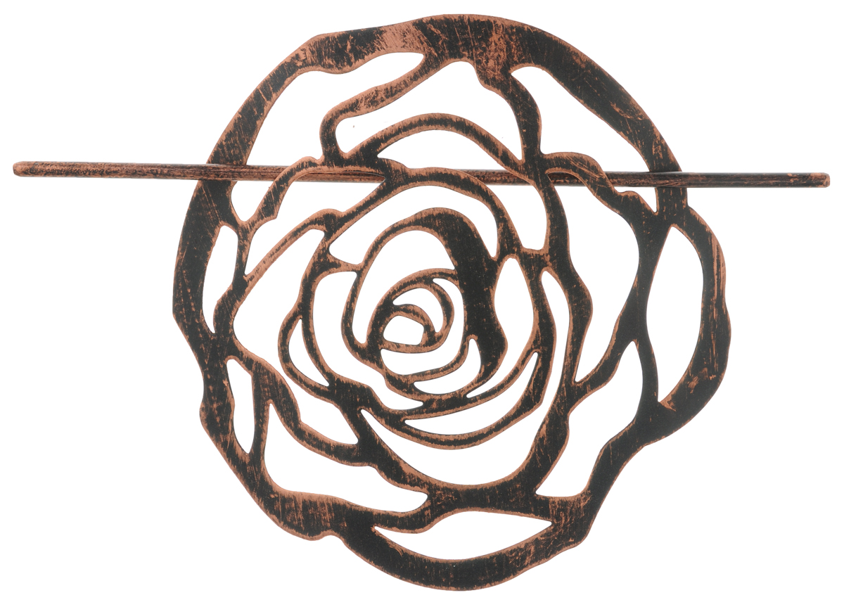 Заколка для штор Мир Мануфактуры, цвет: черный, медный697020_6 черный/медьЗаколка Мир Мануфактуры, выполненная извысококачественного металла, предназначена дляфиксации штор или для формирования декоративных складокна ткани. С ее помощью можно зафиксироватьшторы или скрепить их, придать им требуемоеположение, сделать симметричные складки.Заколка для штор является универсальнымизделием, которое превосходно подойдет длялюбых видов штор. Заколка придаст шторамвосхитительный, стильный внешний вид и добавитуют в интерьер помещения.Размер декоративного элемента: 16,5 см х 16,2 см.Длина палочки: 23 см.