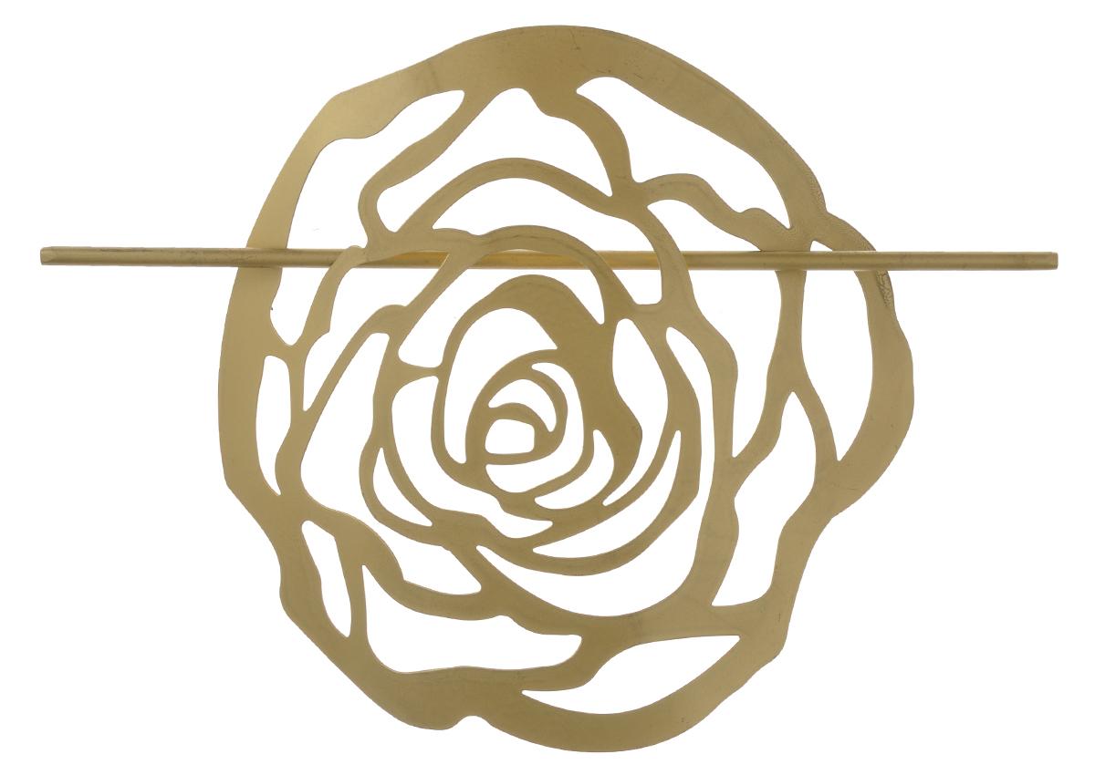 Заколка для штор Мир Мануфактуры, цвет: золотистый697020_2 золотистыйЗаколка Мир Мануфактуры, выполненная извысококачественного металла, предназначена дляфиксации штор или для формирования декоративных складокна ткани. С ее помощью можно зафиксироватьшторы или скрепить их, придать им требуемоеположение, сделать симметричные складки.Заколка для штор является универсальнымизделием, которое превосходно подойдет длялюбых видов штор. Заколка придаст шторамвосхитительный, стильный внешний вид и добавитуют в интерьер помещения.Размер декоративного элемента: 16,5 см х 16,2 см.Длина палочки: 23 см.