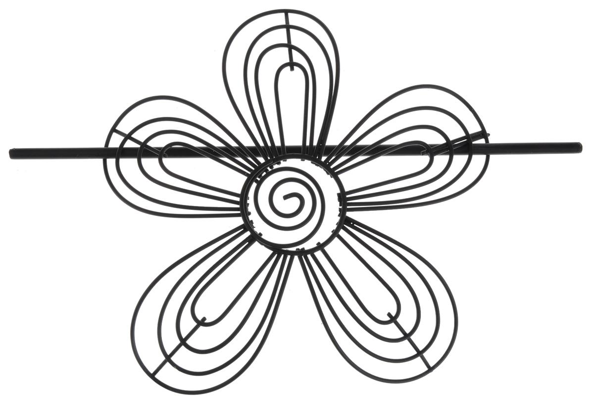 Заколка для штор Мир Мануфактуры, цвет: черный697018_3 черныйЗаколка для штор Мир Мануфактуры выполнена из металла в виде цветка.Заколка - это основной вид фурнитуры в декоре штор, сочетающий в себе не только декоративную функцию, но и практическую - регулировать поток света. Заколки для штор способны украсить любую комнату.Размер декоративной части: 16 см х 16,3 см.Длина палочки: 23 см.
