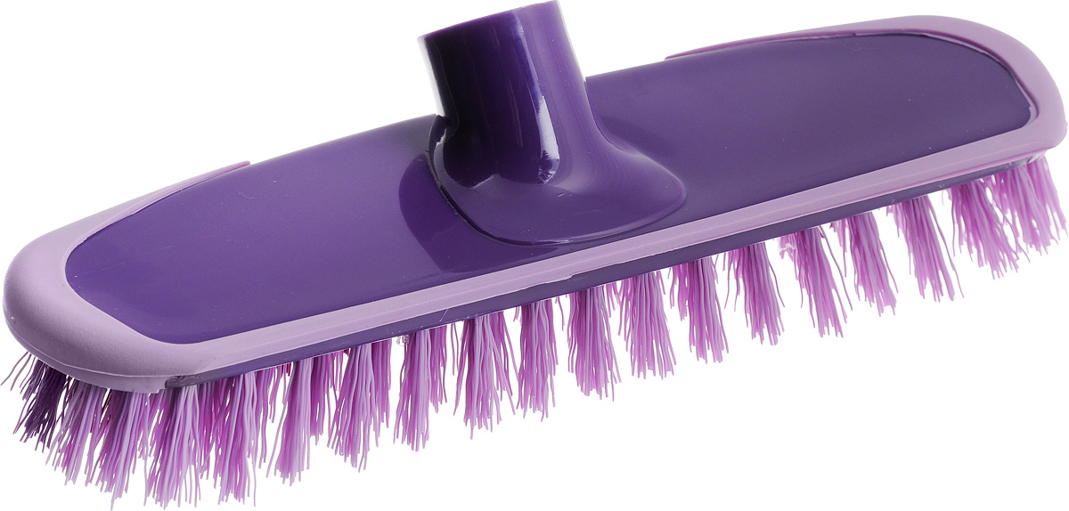 Щетка-скраббер York Prestige, без ручки, цвет: фиолетовый, сиреневый, 25 х 6,5 х 7,2 см4304Щетка-скраббер York Prestige, изготовленная из полипропилена и ПЭТ (полиэтилентерефталат),предназначена для уборки в доме и на улице. Изделие оснащено специальной резиновой накладкой, которая защищает от механических повреждений стены и лестницы во время уборки. Она имеет два типа щетинок, которые удаляют как легкие загрязнения, так и твердую грязь.Щетка-скраббер York Prestige сделает уборку эффективнее и приятнее, не вызывая усталости.Длина ворса: 2,5 см.