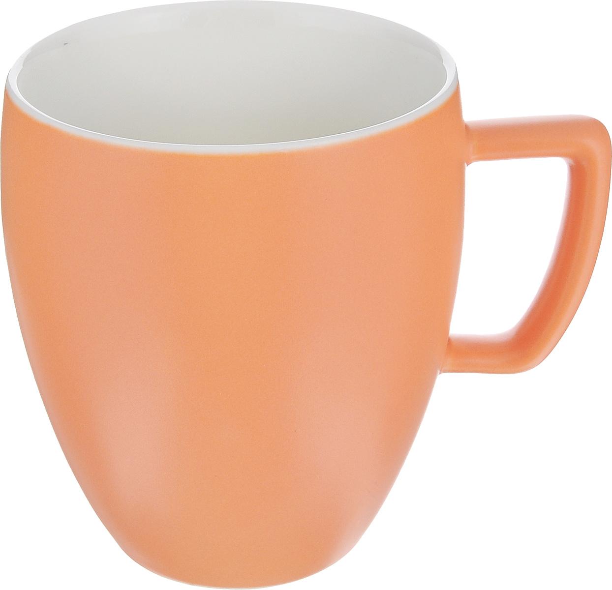 Кружка Tescoma Crema Tone, цвет: оранжевый, 300 мл387146_оранжевыйКружка Tescoma Crema Tone, изготовленная из высококачественного фарфора, прекрасно дополнит интерьер вашей кухни. Изящный дизайн кружки придется по вкусу и ценителям классики, и тем, кто предпочитает утонченность и изысканность. Кружка Tescoma Crema Tone станет хорошим подарком к любому празднику. Диаметр (по верхнему краю): 8 см.Высота: 10 см.