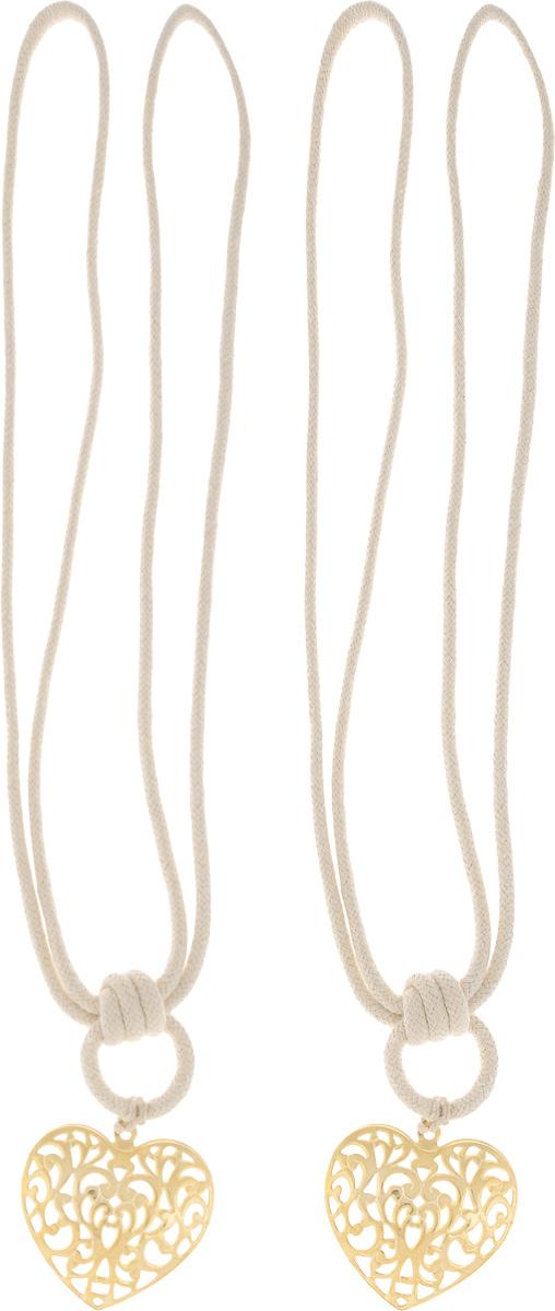 Подхват для штор Wehome Ажурное сердце, цвет: золотистый, длина 72 см, 2 шт7710623_золотойПодхват для штор Wehome Ажурное сердце выполнен из металла и представляет собой плотный канат с украшением в виде сердца. Подхват - это основной вид фурнитуры в декоре штор, сочетающий в себе не только декоративную функцию, но и практическую - регулировать поток света. Такой аксессуар способен украсить любую комнату.Длина подхвата: 72 см. Размер украшения: 5,3 см х6 см.