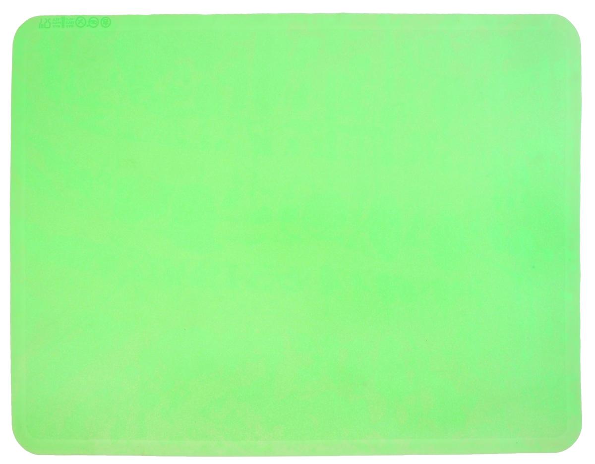 Коврик для теста Marmiton, силиконовый, цвет: зеленый, 48 х 36 см17010_зеленыйСиликоновый коврик Marmiton подходит для раскатки теста и обработки других продуктов. Он идеально прилегает к поверхности стола. Также коврик можно использовать в духовках и микроволновых печах при температуре от -40°С до +240°С. Материал легко моется, устойчив к фруктовым кислотам. Коврик оснащен мерной шкалой по краю и круглым шаблоном для теста по центру. Раскатывая тесто на таком коврике, вы всегда сможете придать ему нужный размер.