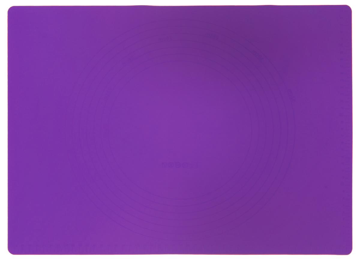 Коврик для теста Marmiton, силиконовый, цвет: фиолетовый, 48 см х 36 см17010_фиолетовыйСиликоновый коврик Marmiton подходит для раскатки теста и обработки других продуктов. Онидеально прилегает к поверхности стола. Также коврик можно использовать вдуховках и микроволновых печах при температуре от -40°С до +240°С. Материал легко моется,устойчив к фруктовым кислотам. Коврик оснащен мерной шкалой по краю и круглым шаблономдля теста по центру. Раскатывая тесто на таком коврике, вы всегда сможете придать ему нужныйразмер.